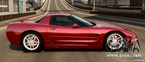 Chevrolet Corvette C5 2001 EPM for GTA 4 left view