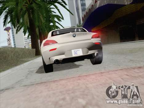 BMW Z4 2011 for GTA San Andreas side view