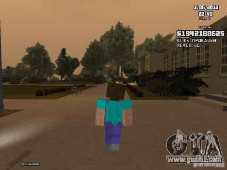Steve for GTA San Andreas second screenshot