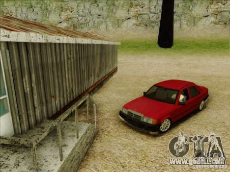 Mercedes-Benz E Class W124 for GTA San Andreas back left view