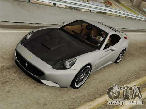 Ferrari California for GTA San Andreas interior