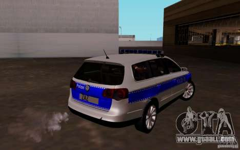 Volkswagen Passat B6 Variant Polizei for GTA San Andreas right view