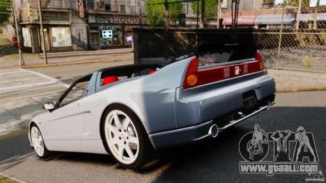 Honda NSX-R (NA2) 2005 for GTA 4 back left view