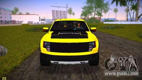 Ford F-150 SVT Raptor for GTA Vice City inner view