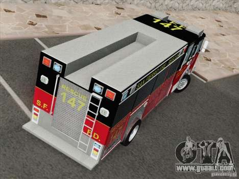 Pierce SFFD Rescue for GTA San Andreas inner view