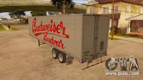 All-metal trailer for GTA San Andreas back left view