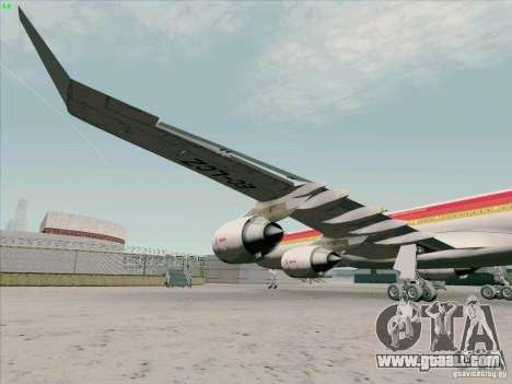 Airbus A-340-600 Iberia for GTA San Andreas inner view