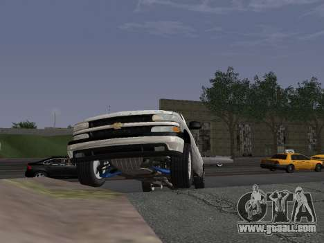 Chevorlet Silverado 2000 for GTA San Andreas inner view