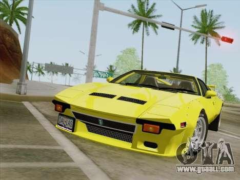 De Tomaso Pantera GT4 for GTA San Andreas left view