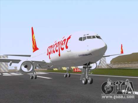Boeing 737-8F2 Spicejet for GTA San Andreas back left view