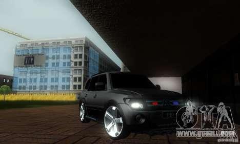 Mitsubishi Pajero FBI for GTA San Andreas back left view