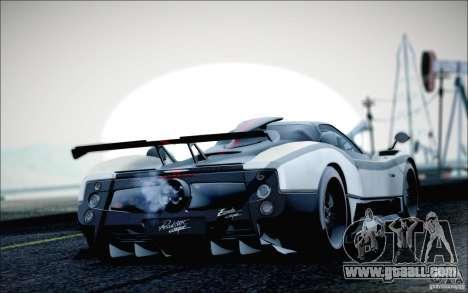 Pagani Zonda Cinque Roadster 2009 for GTA San Andreas left view