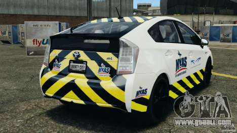 Toyota Prius NY Airport Service for GTA 4 back left view