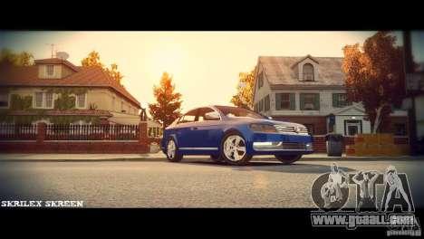 VW Passat B7 TDI Blue Motion for GTA 4 inner view