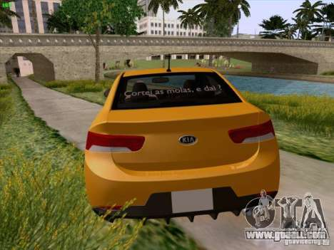 Kia Cerato Coupe 2011 for GTA San Andreas bottom view