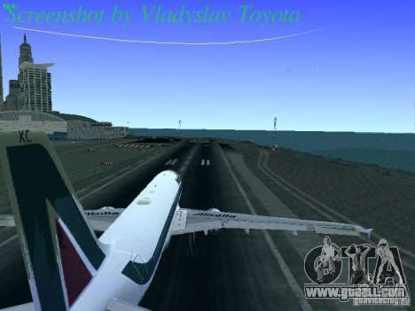 Airbus A320-214 Alitalia v.1.0 for GTA San Andreas side view