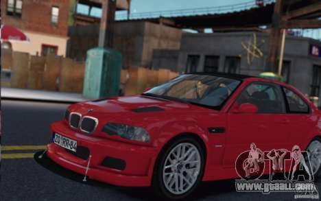 BMW M3 E46 Street Version for GTA 4 back left view