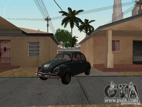 Volkswagen Beetle for GTA San Andreas back left view