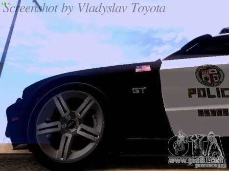 Ford Mustang GT 2011 Police Enforcement for GTA San Andreas side view