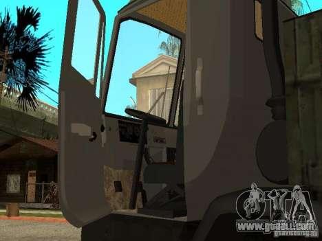 KAZ 4540 dump truck for GTA San Andreas inner view