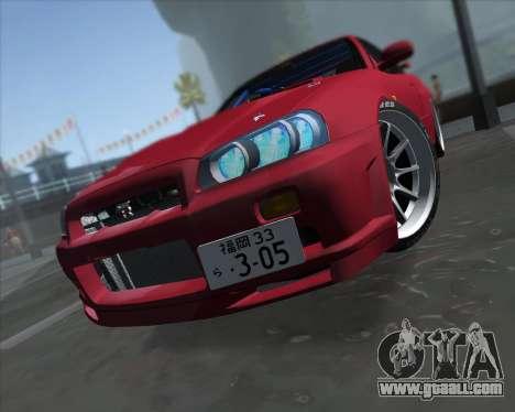 Nissan Skyline BNR34 GT-R for GTA San Andreas