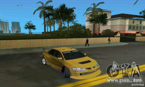 Mitsubishi Lancer Evo for GTA Vice City back left view