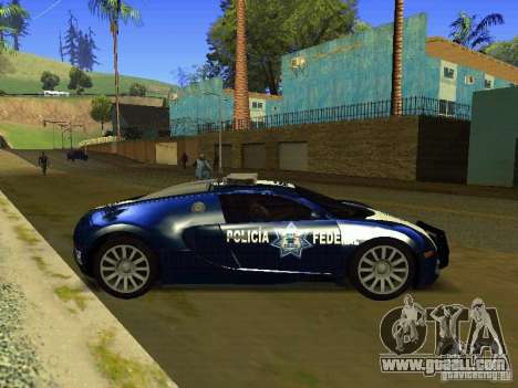 Bugatti Veyron Federal Police for GTA San Andreas left view
