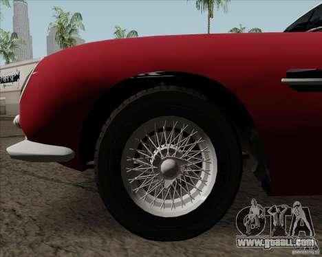 Aston Martin DB5 for GTA San Andreas inner view