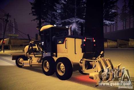 Caterpillar 140AWD Motorgrader for GTA San Andreas left view