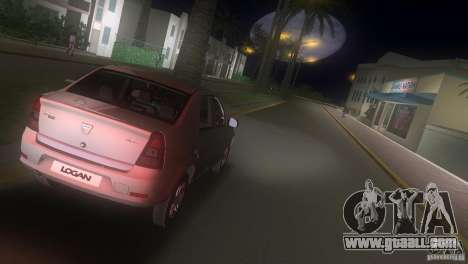 Dacia Logan for GTA Vice City back view