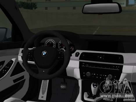 BMW M5 F10 2012 for GTA Vice City interior