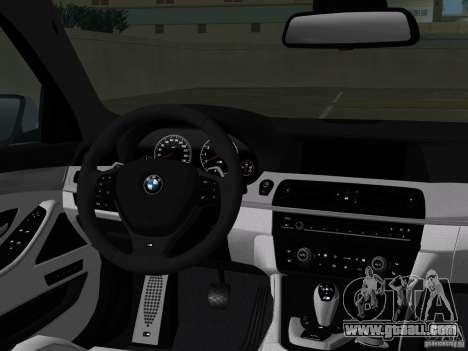 BMW M5 F10 2012 for GTA Vice City interior