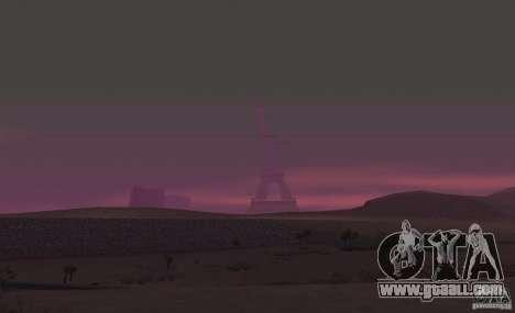 The Eiffel Tower from Call of Duty Modern Warfar for GTA San Andreas forth screenshot