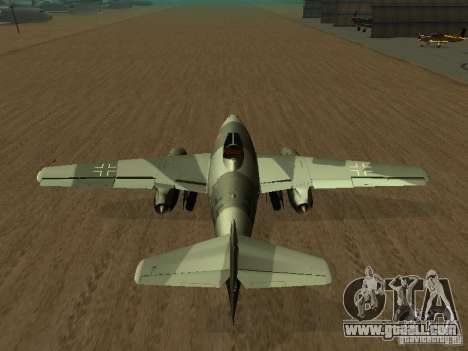 Messerschmitt Me262 for GTA San Andreas back left view