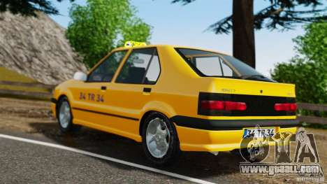 Renault 19 Taxi for GTA 4 back left view