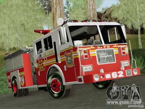 Seagrave Marauder II Engine 62 SFFD for GTA San Andreas back view