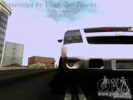 Chevrolet Avalanche 2007 for GTA San Andreas inner view