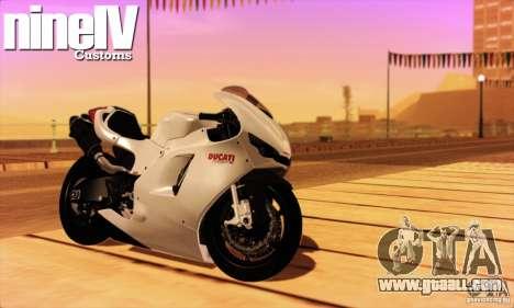 Ducati Desmosedici RR 2012 for GTA San Andreas