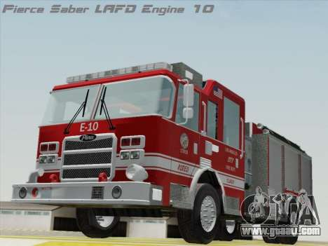 Pierce Saber LAFD Engine 10 for GTA San Andreas