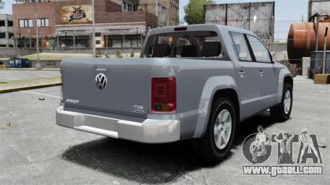 Volkswagen Amarok TDI for GTA 4 back left view