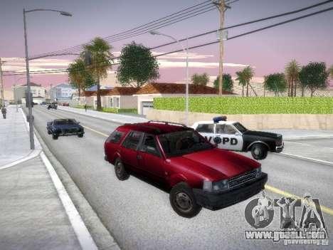 Nissan Bluebird Wagon for GTA San Andreas back view