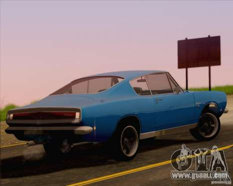 Plymouth Barracuda 1968 for GTA San Andreas left view