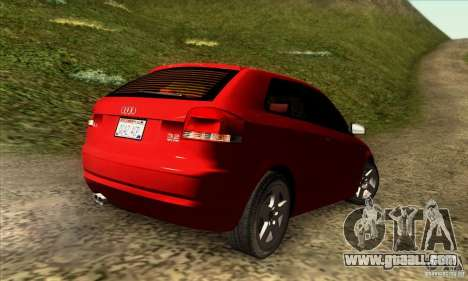 Audi A3 Tunable for GTA San Andreas left view