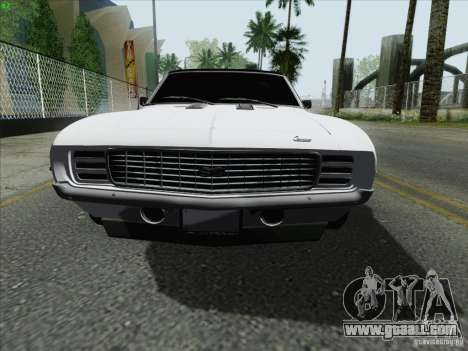 Chevrolet Camaro SS 1969 for GTA San Andreas left view