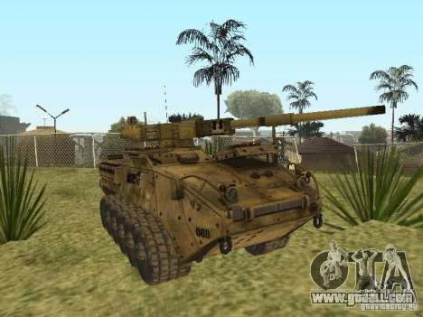 BMTV M1128 MGS for GTA San Andreas back view