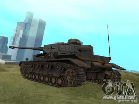 Pzkpfw IV for GTA San Andreas right view