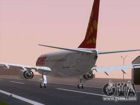 Boeing 737-8F2 Spicejet for GTA San Andreas left view