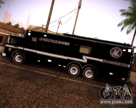 Pierce Contendor LAPD SWAT for GTA San Andreas right view