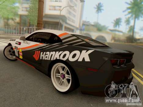 Chevrolet Camaro Hankook Tire for GTA San Andreas back left view