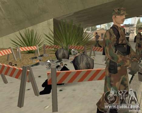 Scene of the crime (Crime scene) for GTA San Andreas fifth screenshot